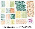 vector hand drawn textures.... | Shutterstock .eps vector #693683380