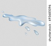 realistic 3d spilled clear and... | Shutterstock .eps vector #693685096