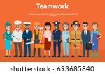 internet page with information... | Shutterstock .eps vector #693685840