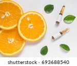 vitamin c brown ampule for... | Shutterstock . vector #693688540
