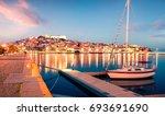 splendid spring seascape on...   Shutterstock . vector #693691690