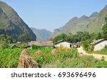 meo vac town  ha giang  vietnam | Shutterstock . vector #693696496