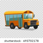 back to school.cartoon school... | Shutterstock .eps vector #693702178