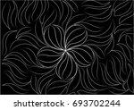 abstract black flower background | Shutterstock .eps vector #693702244