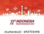 indonesia independence day with ... | Shutterstock .eps vector #693703498