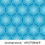 modern geometric ornament.... | Shutterstock .eps vector #693708469