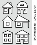 icon house. stylized home logo. ... | Shutterstock .eps vector #693713704