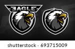 head of the eagle  sport logo.... | Shutterstock .eps vector #693715009