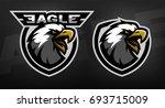 head of the eagle  sport logo.... | Shutterstock .eps vector #693715009