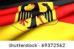 Flag of Germany. Close up. - stock photo