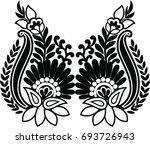 hungarian folk art  | Shutterstock .eps vector #693726943