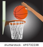 player shooting ball to... | Shutterstock .eps vector #693732238