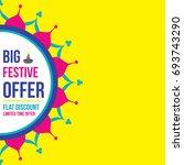 diwali festival sale banner or... | Shutterstock .eps vector #693743290