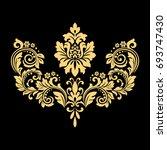 golden vector pattern on a... | Shutterstock .eps vector #693747430