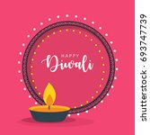happy diwali wallpaper design... | Shutterstock .eps vector #693747739