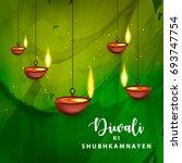 happy diwali  vector... | Shutterstock .eps vector #693747754