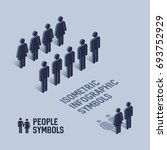 Isometric People Pictogram Sign ...