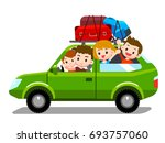vector family traveling... | Shutterstock .eps vector #693757060