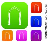 arch set icon in different... | Shutterstock .eps vector #693762043