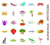 animal kingdom icons set.... | Shutterstock .eps vector #693765286