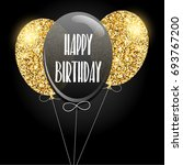 happy birthday invitation with... | Shutterstock . vector #693767200