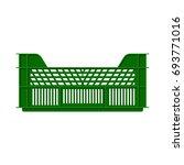 empty plastic crate for fruits... | Shutterstock .eps vector #693771016