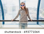 young hipster stylish beautiful ... | Shutterstock . vector #693771064