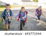 nice pre school children on the ... | Shutterstock . vector #693771544