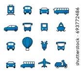 transportation logo or icon set ... | Shutterstock .eps vector #693772486