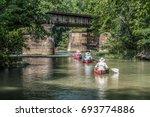 Canoes on the Cahaba River in Helena, AL