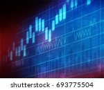 financial charts and graphs... | Shutterstock . vector #693775504