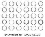 set of black and white... | Shutterstock .eps vector #693778138