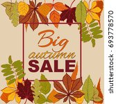 autumn sales banner with bright ... | Shutterstock .eps vector #693778570