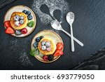 cottage cheese pancakes ... | Shutterstock . vector #693779050