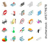 teaching icons set. isometric... | Shutterstock .eps vector #693779878