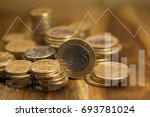 brazilian coins and graphics.... | Shutterstock . vector #693781024