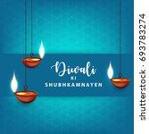 happy diwali wallpaper design...   Shutterstock .eps vector #693783274