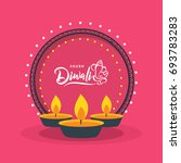 happy diwali wallpaper design... | Shutterstock .eps vector #693783283