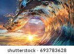 colorful ocean wave. sea water... | Shutterstock . vector #693783628