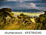 summer afternoon on countryside ... | Shutterstock . vector #693784240
