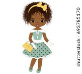 vector cute little african... | Shutterstock .eps vector #693785170