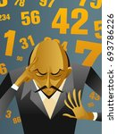 numbers numerology thinking man | Shutterstock .eps vector #693786226
