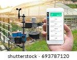 weather station data logging... | Shutterstock . vector #693787120