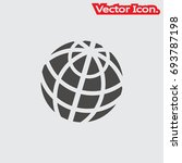 globe icon isolated sign symbol ... | Shutterstock .eps vector #693787198