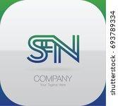logo letter combinations s  f... | Shutterstock .eps vector #693789334