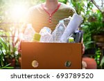garbage for recycling concept... | Shutterstock . vector #693789520