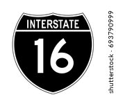 interstate highway 16 road sign.... | Shutterstock .eps vector #693790999