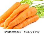 carrots isolated on white back... | Shutterstock . vector #693791449