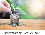 coins saving growth up to... | Shutterstock . vector #693791518