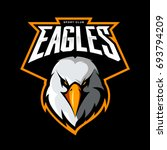 furious eagle head athletic... | Shutterstock .eps vector #693794209